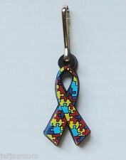 @**AUTISM AWARENESS RUBBER ZIPPER PULL CHARM**@BRAND NEW! 15% to Autism Speaks