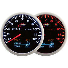 RaceTech 60mm Smoked EGT Volt Oil Temp Oil Pressure Gauge LED 4 in 1