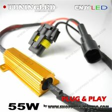 2 RESISTANCE 55W PLUG & PLAY SONAR CORRECTION ANTI/SANS ERREUR ODB LED CABLE H8