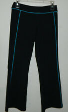 Women Lululemon Running Casual Work-Out Solid Black Blue Yoga Pants  Size 6