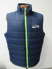 Seattle Seahawks Mens Medium Full Zip Embroidered Vest Jacket SSE 27