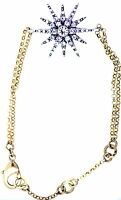 Oro del estilo de la vendimia y sol cristalino claro / pulsera del flowet