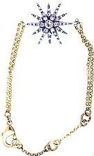 Vintage style gold and clear crystal sun / flowet bracelet