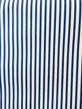 Striped Wallpaper Navy Blue Off-White Warner WFM4207 DOUBLE ROLLS