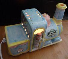 Vintage Judi Patrica Design Toytown Train Hector Ceramic Pottery Lamp Light 0235