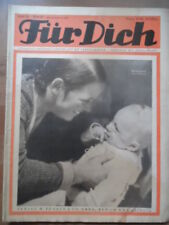 FÜR DICH Nr. 38 - 1934/35 Vobachs Unterhaltungsblatt Mode Volkstanz