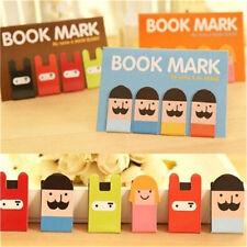 Lovely Girl Beard Magnetic Bookmark Book Mark Clip Decoration 1 Set 4pcs