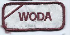Woda name tag patch 1-5/8 X 3-5/8