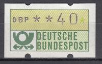 BRD 1981 Automaten-Freimarke 40er Postfrisch gelbe Gummierung ohne Nr. (21379)
