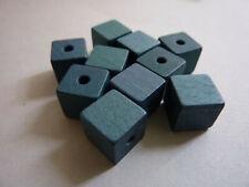 10 Holzperlen Holzwürfel Würfelperlen Holz 10 mm grün 126