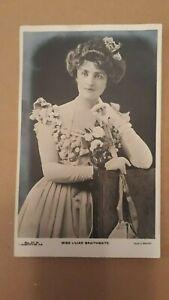 MISS LILIAN BRAITHWAITE ( ACTRESS ) PHOTO POSTCARD UNPOSTED C.1900