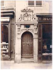 France, Nancy, porte de maison, décoration sculptures, ornements  vintage albume