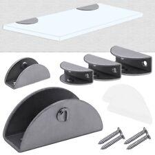 Glass Shelf Clip Clamp Support Holder Bracket Semi-Circular Stainless Steel Matt