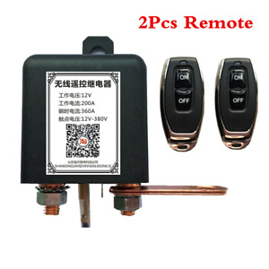 Car Battery Master Kill Switch Wireless Dual Remote Control Disconnect Relay