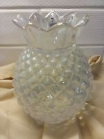 "Fenton Rare Vintage Hobnail Opalescent Lamp Shade Vase 6 3/4 Tall 3""Fitter"