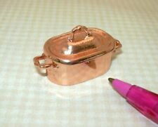 Miniature Aged Rustic Oval Dutch Oven, COPPER Colored: DOLLHOUSE 1:12