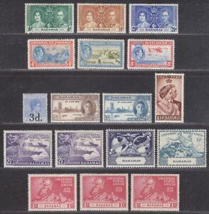 Bahamas 1937-49 King George VI Selection Mint Coronation, Pictorials, UPU