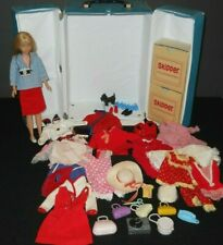 Vintage Mod 1960s Skipper Skooter Clone Doll Case Clothing Accessory Lot Japan