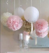 32x paper pom poms lanterns wedding engagement 1 birthday party venue decoration