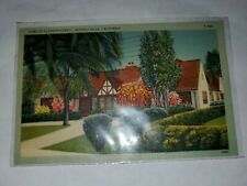 Vintage Postcard Home Of Eleanor Powell Beverly Hills California 1941