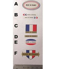 Made in France decals choice of 2 plus free Campagnolo