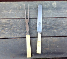 Firth's Stainless Steel Sheffield Knife + an Unmarked Carving Fork