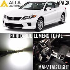 Alla Lighting LED Interior Map Light/License Plate Tag Bulb Lamp forHonda,White