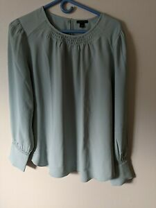 Anne Taylor Puff Sleeve Blouse Size L