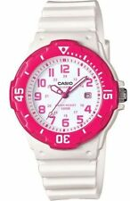 Casio LRW200H-4BV, Women's Analog White Resin Band, 100 Meter, Date