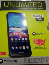 Straight Talk Motorola Moto E 2020 - 32GB - Mobile Cell Phone Blue **FOR PARTS**