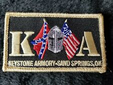 Keystone Armory Knight USA Flag Patch Tactical Worldwide Gold Black 2x3""