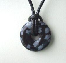Unisex Halsketten & Anhänger mit Obsidian echten Edelsteinen