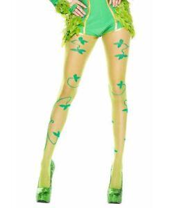 Multiple Leaf Print Pantyhose - Music Legs 7059