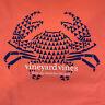 Vineyard Vines Mens Long Sleeve Crab Stamp T Shirt Coral Sz 2XL- NEW TAGS