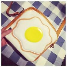 Harajuku Poached eggs on toast Messenger Bag Kawaii Yummy Shoulder Bag Cute N