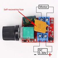 5V~30V 12V 24V 5A PWM DC Motor Speed Controller Adjustable Switch LED Fan Dimmer