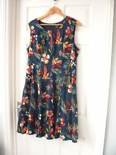 Lovely Flowered Dress UK 18 By Solo