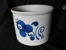 "Lapid Pottery Israel 3 Quart Arabesque Crock – Hand Painted Signed – 8"" x 6.25"""