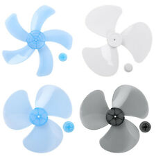 Plastic Fan Blade 3/5 Leaves W/Nut Cover Standing Fan Table Fanner Replacement