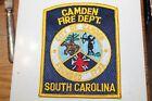Fire Patch     Camden Fire Dept. South Carolina
