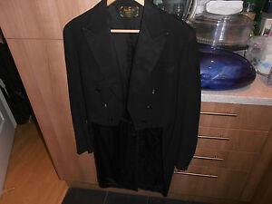 "VTG 1930s Bespoke Hungarian White Tie Evening Dress Tailcoat size 38"""