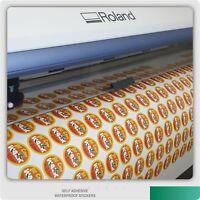 Small Sheet Custom Sticker Printing Vinyl Contour Cut Any Shape Business Labels