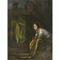 De Torres Coal Seller Woman Composition Painting Large Canvas Art Print