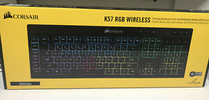 Corsair K57 RGB Wireless Gaming Keyboard, 6-Macro Key Rubber Dome Switches