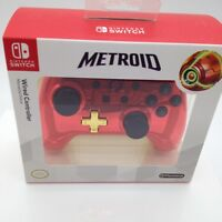 Nintendo Switch Limited Edition Metroid Red Gold Chrome WIRED Controller Samus