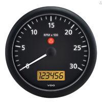 "Vdo A2C53194597-S Viewline Onyx 3 000 Rpm 5"" 4 3/8"" 110Mm Mounting Tachometer 2"