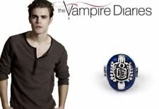 The Vampire Diaries Damon Salvatore D Crest  Lapis Antique Silver Daylight Ring