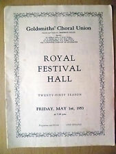 1950 Goldsmith's Vhoral Union, Royal Festival Hall- MESSIAH, Ferderick Haggis