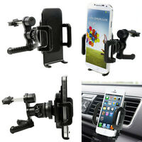 360° Car Air Vent Mount Cradle Holder Stand For Mobile Smart Phone PDAs GPS