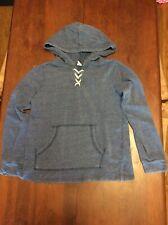 Old Navy Blue Pullover Hoodie w Rope-like Lacing Sz 10-12